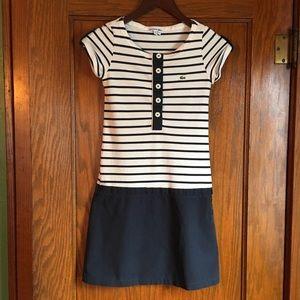 Lacoste Navy/White Striped Dress Size XS